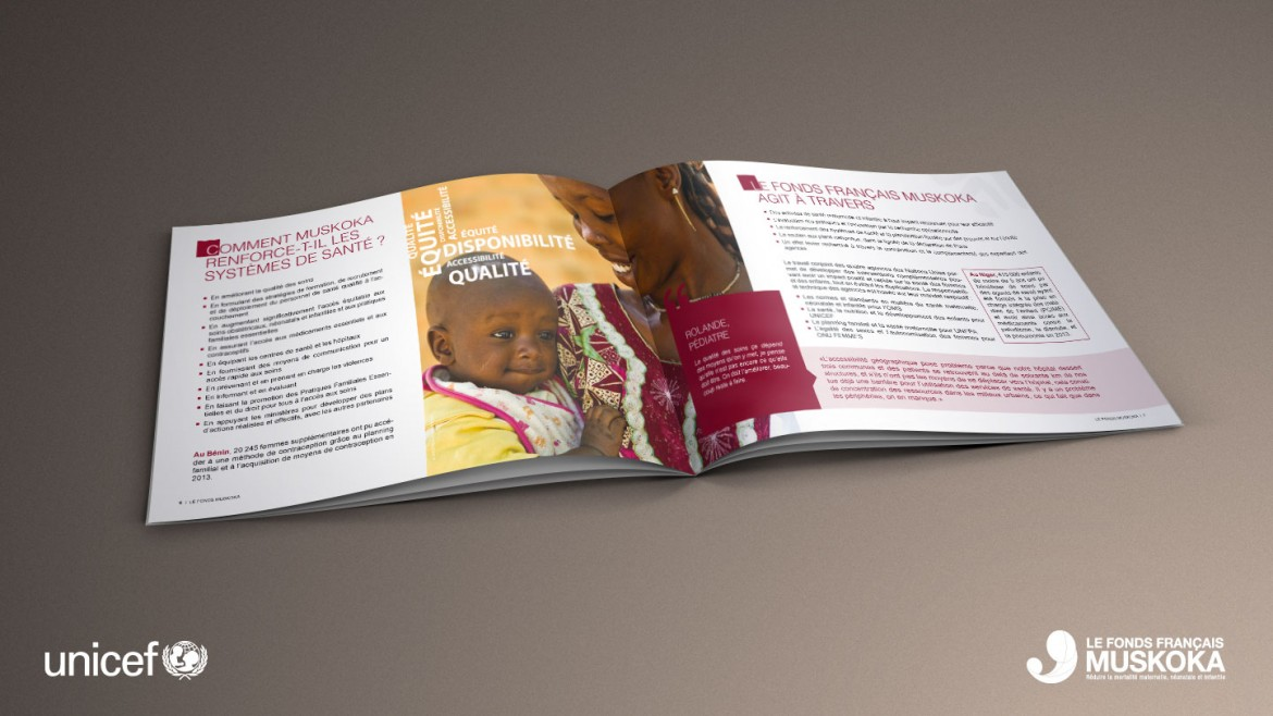 creation-edition-brochure-plaquette-muskoka-unicef-infographie